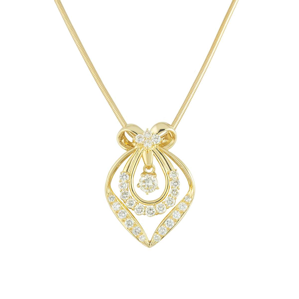 Yellow Gold Diamond Pendant 1.87ct